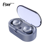 Eson Style truly stereo wireless Bluetooth 5.0 Earphones sports earphones build in mic 2018 hot selling trending