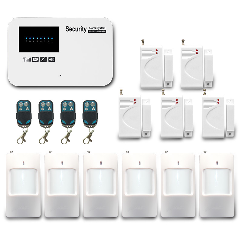 Desain baru! Wireless GSM Home Security System/Wireless Alarm Rumah kit/Kartu Sim GSM Burglar Alarm
