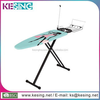 Luxury Monoblock Folding Stand Retractable Iron Nest Ironing Board With  Clothes Rack
