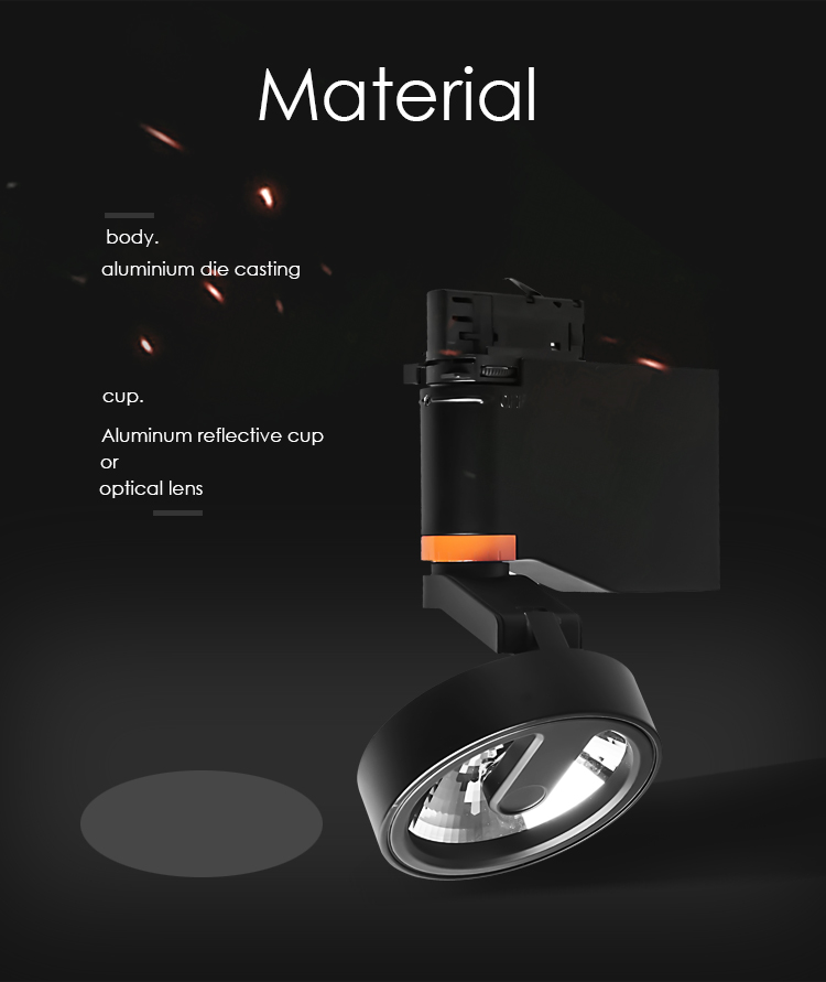 Low glare led track light ,20W COB,Factory Price