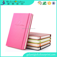 A5 Hardcover Personalized Custom Made PU Diary Agenda Planner With Elastic Binding