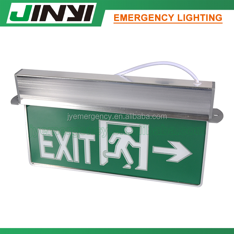 safety rechargeable led emergency fire indicator exit light with backup battery
