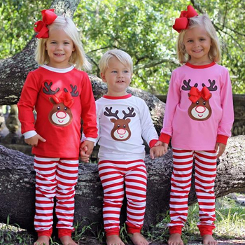 Wholesale toddler and infant baby pajama christmas brother and sister clothes