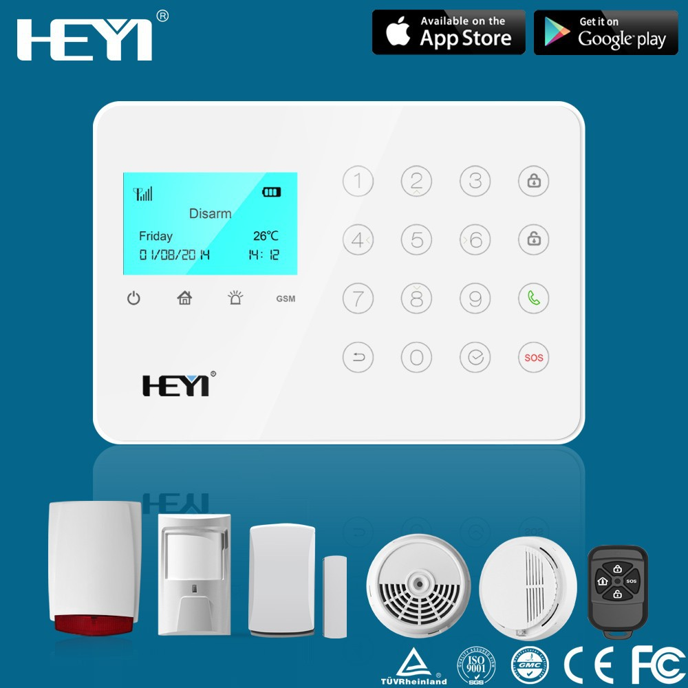 smoke alarm wireless home grogrammable smart auto dial GSM host alarm system