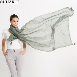 CUHAKCI 2017 High Quality Women New Soft Thin Tassel Scarves Luxury Warm Cotton Pashmina Scarf 11 Colors
