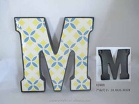 Metal Unique design Letter M / home wall decoration