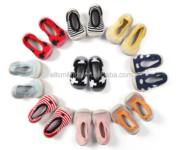 wholesale shenzhen rubber sole baby sock shoes