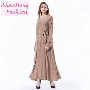 fca257eb0f 6051  Tunics for women wholesale muslimah products muslim maternity maxi  dress islamic brown abaya dresses