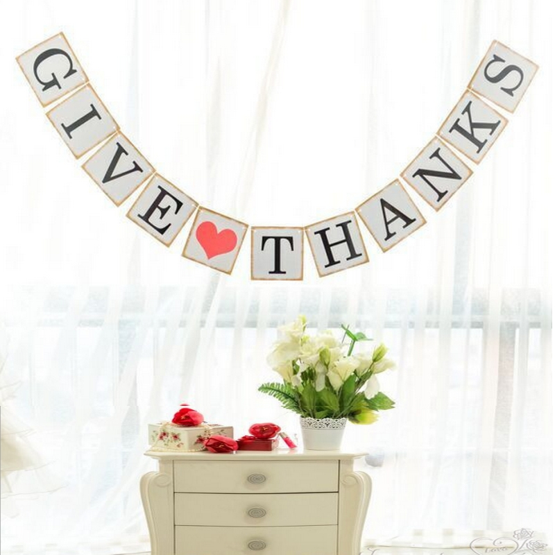 GIVE THANKS Party Banner For The Thanksgiving Season