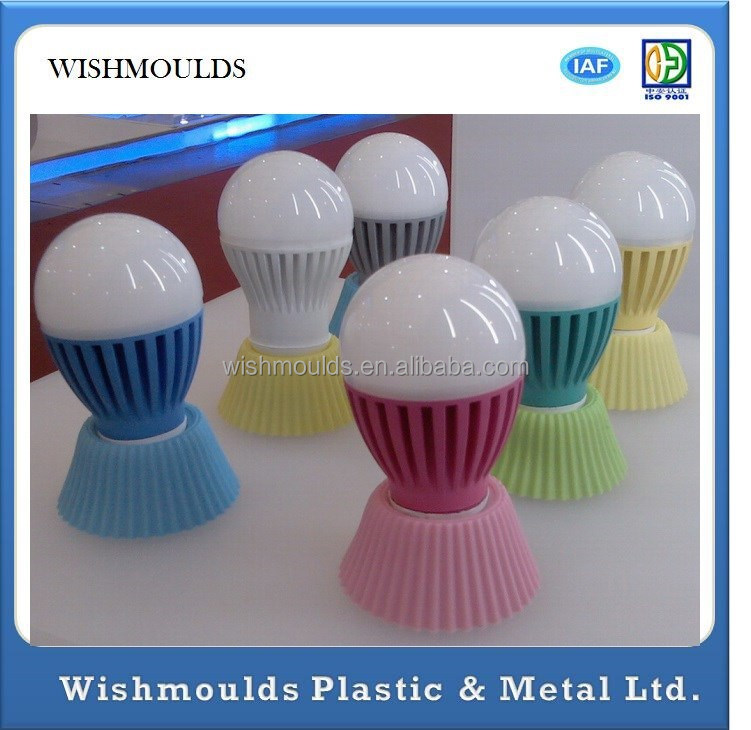 plastic cover low power LED bulb lights custom made Injection Mould plastic molding