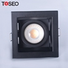 Adjustable gimbal recessing mr16 gu10 anti glare square fixtures led downlight