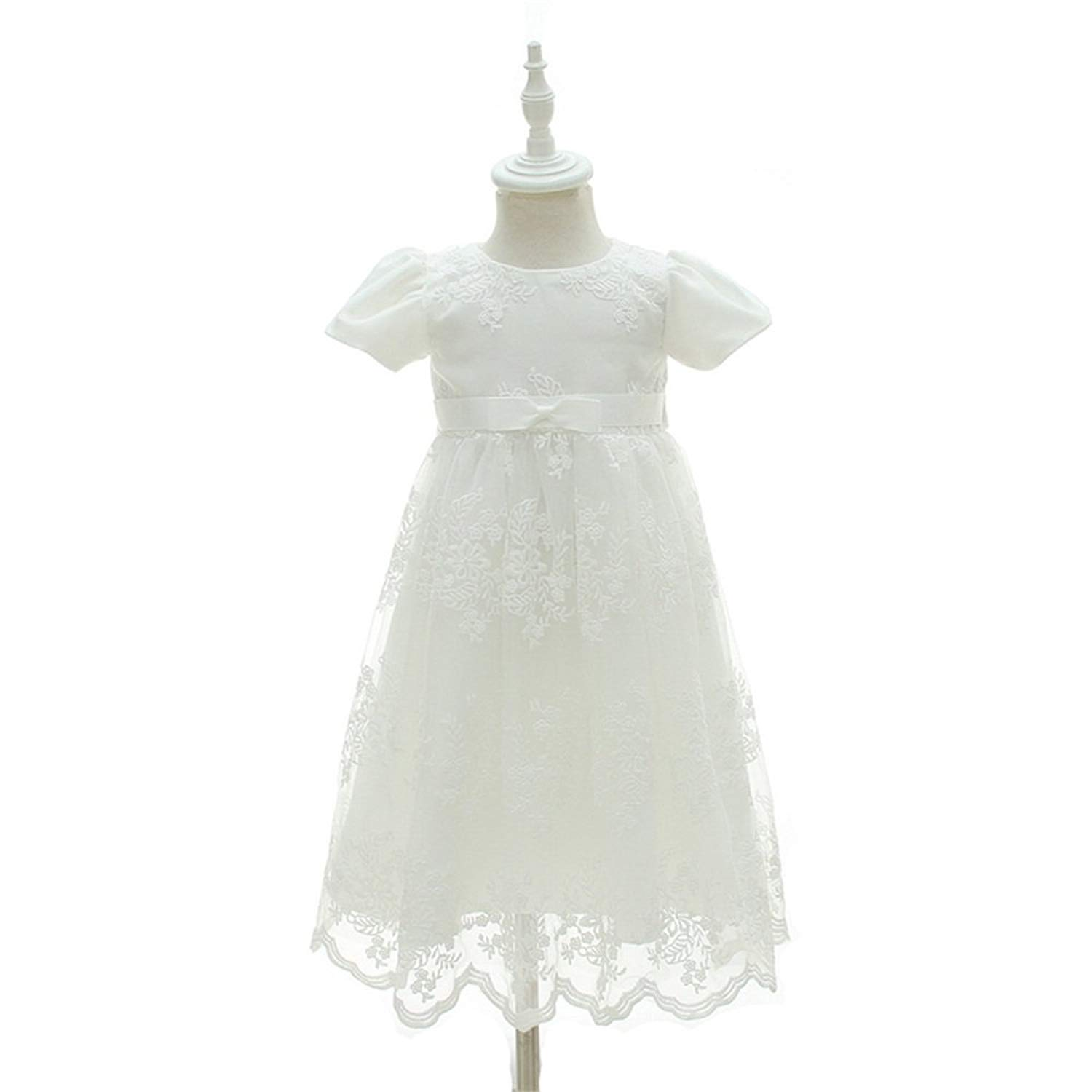 a9d7e8d2b6 Get Quotations · EsTong Newborn Baby Girls Baptism Christening Gown Flower  Gril Princess Dress