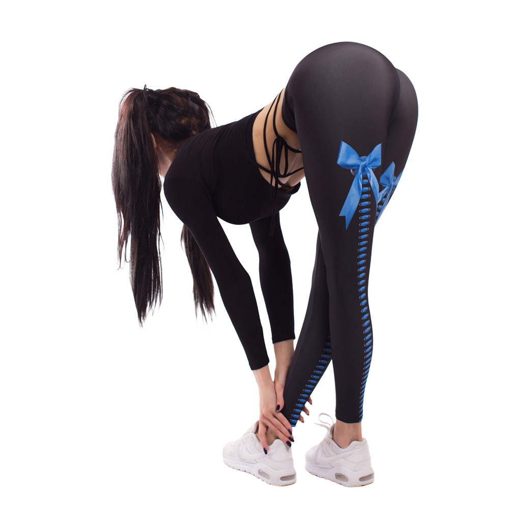 Ropa Deportiva Para Las Mujeres Sexy Apretado Leggings Transpirables Chicas Señora Vendaje Gimnasio Correr Entrenamiento Leggins Deporte Fitness Yoga
