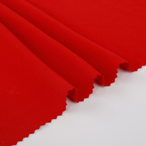 Supply free sample soft recycled 100% polyester diamond bird eye mesh fabric