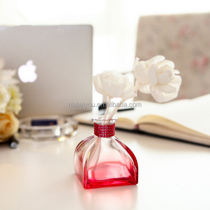 Hot sell in European ceramic bottle + cloth flower new design reed diffuser