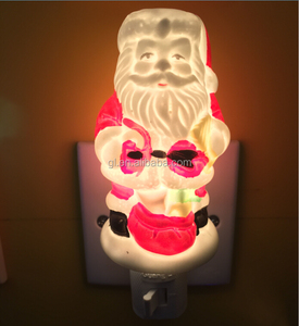 USA nite lite Xmas decoration Christmas AROMA CERAMIC Santa claus night light for indoor decoration