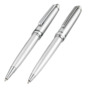 High quality chrome silver pen cheap silver pen Twist Full Silver PEN