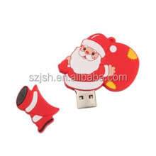 Hot Christmas PVC USB Flash drives Bulk cheap 1GB 2GB 4GB 8GB16GB USB flash memory Promotional gift USB pen drive 32GB
