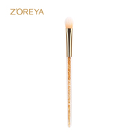 Top quality private label professional single makeup brush with diamond handle