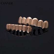 Набор зубов Canner в стиле хип-хоп, с верхними и нижними зубцами, золотого, серебряного цвета, для косплея, для мужчин и женщин, W4(Китай)