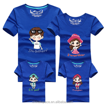 0594ea0760 Cheap Branded Cotton Tee Shirts Father Son Suits Mother Daughter Clothes  Family T-shirt Designs