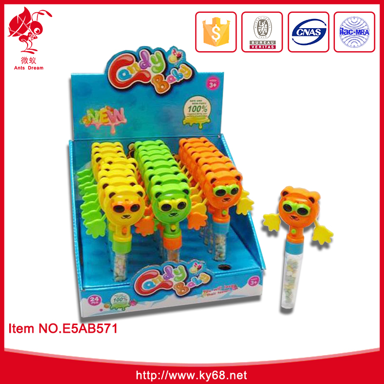 Chenghai funny kids promotional toy with candy sugar in bulk