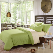 AB version green and beige bedding set for family and hotel
