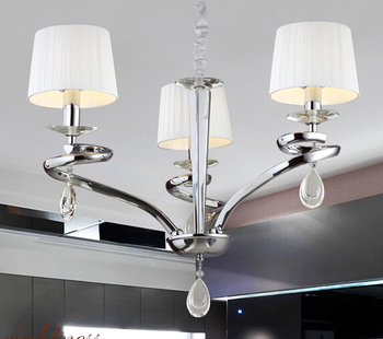 Expensive Modern Fabric Cover Crystal Chandelier Living Room ...