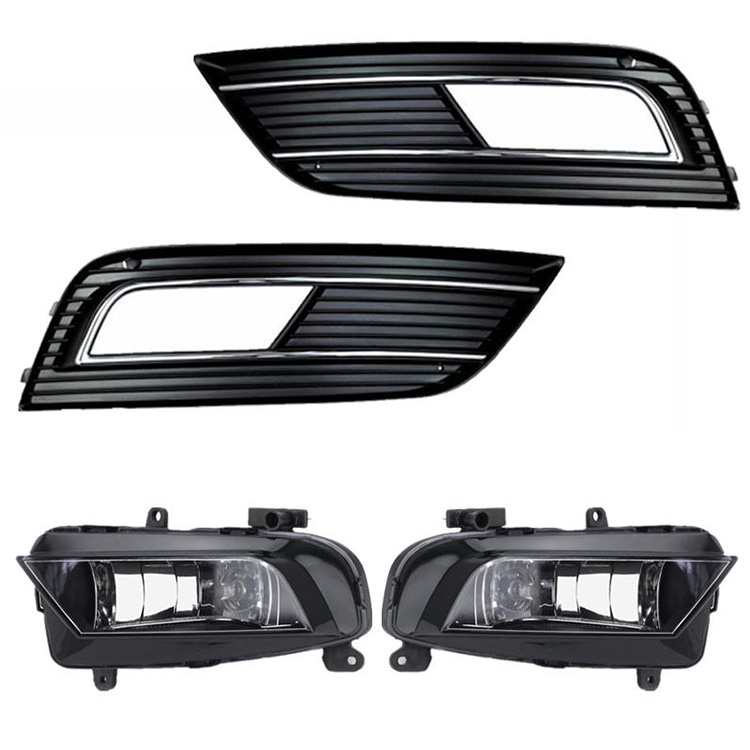 led flexible strip lights 2x White LED DRL Daytime Running Light Fog Light Kit For Audi A4 2013-201