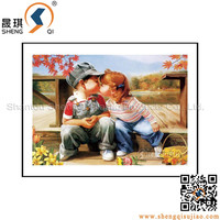 Lovely little boy and girl 3d Photo /3d lenticular picture