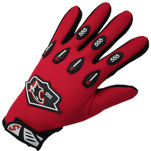 Red mens running gloves winter warm motorcycle gloves
