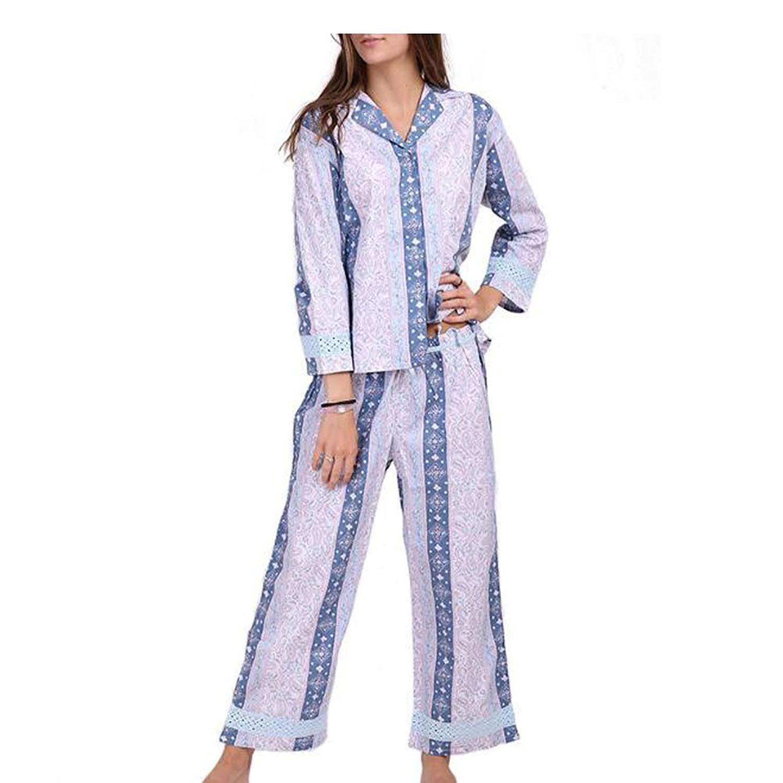 Get Quotations · Meijunter Women V-Neck Pajamas Set Luxury Cotton Nightgown  Sleepwear Nightwear 7ae9d09af