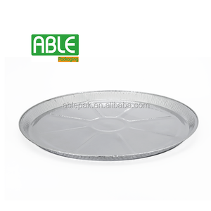 600ml 10-3/5'''' Large Round Aluminum Foil Tray Plate Container Pizza Pan for Food Fruit Take Away Disposable Packaging (PS270)