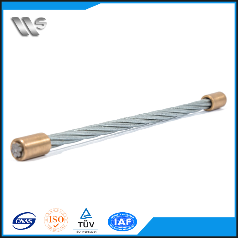 1370Mpa ASTM A416 Grade 270 1x7 15.2mm high tensile galvanized strand for bridge
