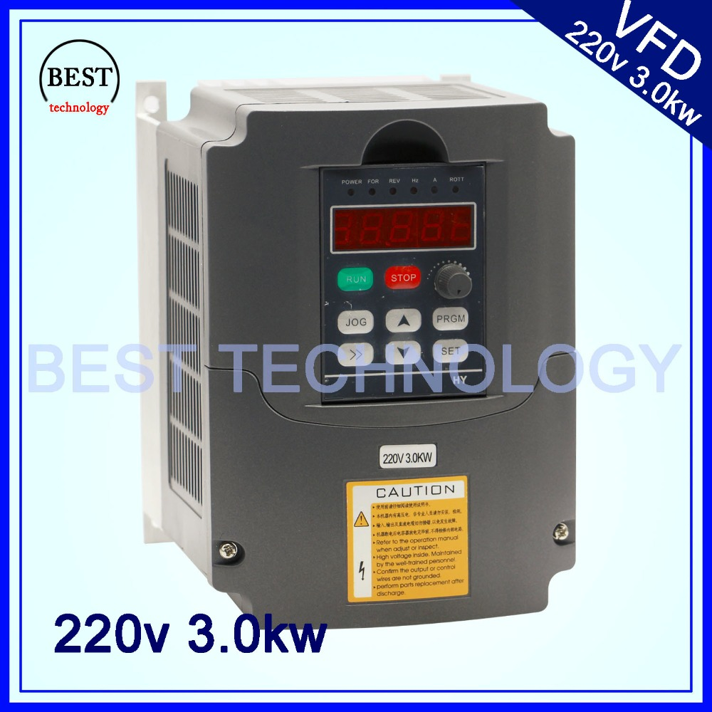 3.0kw Variable Frequency Drive VFD Inverter  3HP 220V AC  New Product! High Quality!