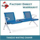 WL600-8A02 Reception Stainless Steel Waiting Chair with food table