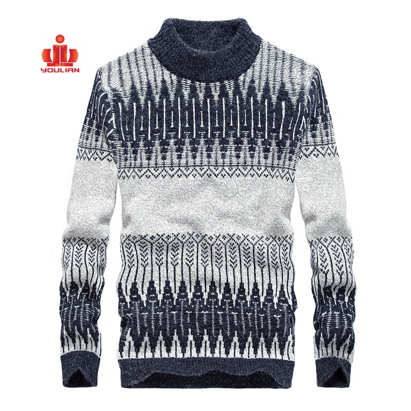 Low MOQ Custom Models For Knitted Fashion Cotton Jumpers Pullover Warm Winter Turtleneck Sweater Men