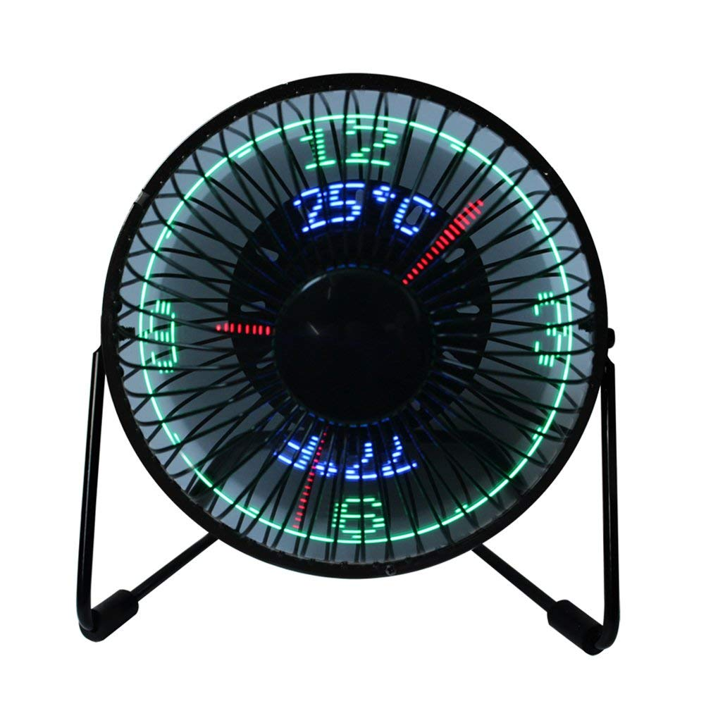 Air Conditioning Appliance Parts Flexible Gooseneck Real-time Temperature Led Flash Display Soft Blade Usb Fan Complete Range Of Articles Home Appliances