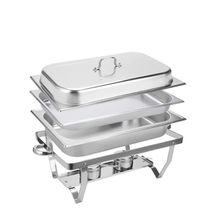 Cheap economic 9L stainless steel chafing dish buffet food warmers china suppliers hotel catering serving dishes chafing