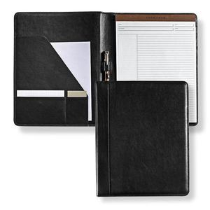 Professional supplier best quality a4 conference leather folder black with writing note pad