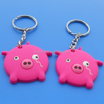 Crying Pink Pig Soft Pvc Keychain 43a6d57749f7