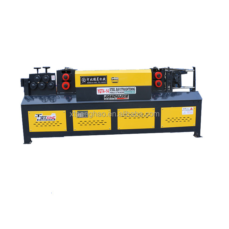 Double tractions high speed straightening and cutting machine,steel bar straightener