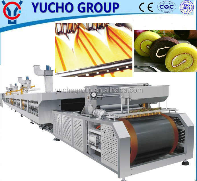 Multi Function Automatic Sandwich Cake/ Swiss Roll Cake Making Production <strong>Line</strong>