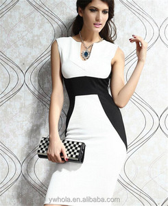 Chinese Factory Wholesale Women Sleeveless Formal Office Dress
