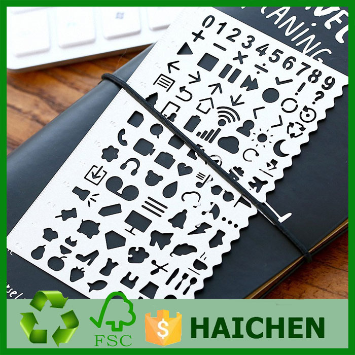 Creative Stencil Life Element Template Ruler