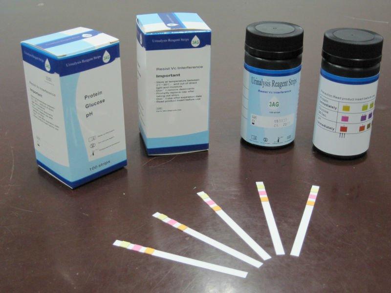 Tiras reactivas de orina para an lisis de orina para for Table 6 simulated urine protein test