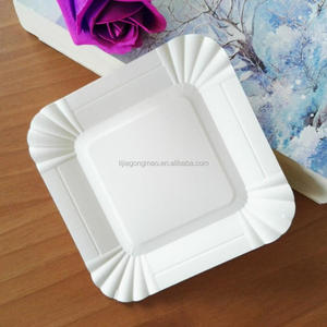 white round and rectangle paper plate disposable paper plate
