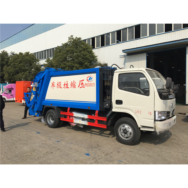 2019 New Model DFAC 4-5 tons hydraulic garbage compactor truck for sale in Nigeria