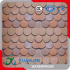 round colorful asphalt shingle sheets
