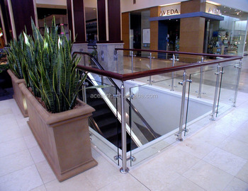 Customize Outdoor Glass Railing Balcony Railing Designs For Stair